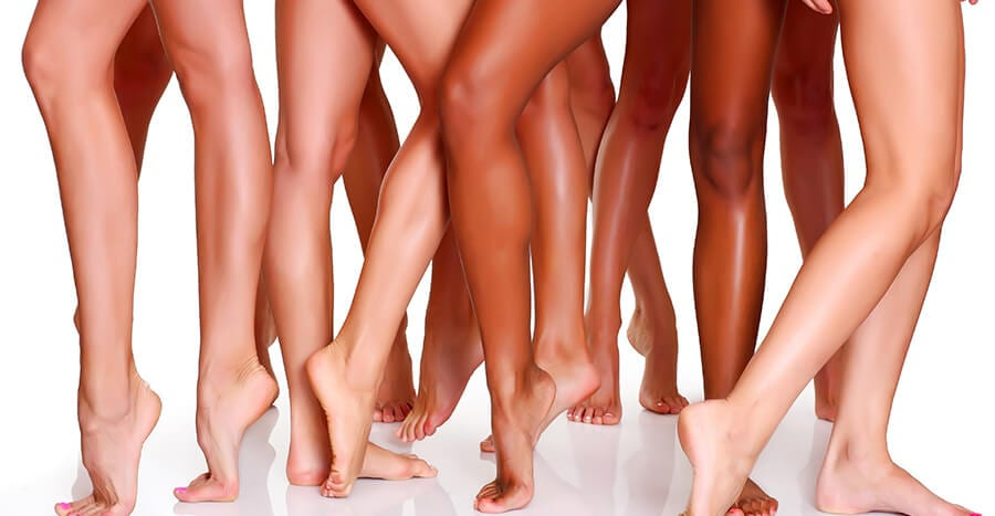 Legs after getting a laser hair removal procedure in Kennewick, WA